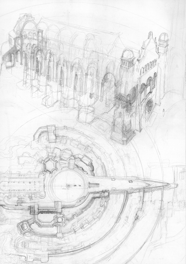 alan_lee_the lord of the rings_sketchbook_13_minas tirith04